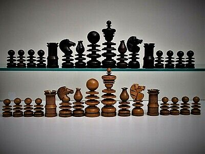 Rare, Large 'Jaques'(?) Style Antique 'St George' Chess Set (K = 91 Mm/3.6 ).  • 107£