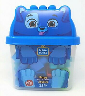 Mega Bloks First Builders Happy Puppy Bucket Of Blocks Playset Toy • 14.99£