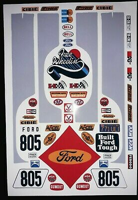 Ford Ranger Grey 1/10 RC Stickers Decal Sheet Precut Customized  • 11.99£