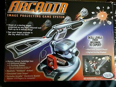 ARCADIA Image Projecting Game System, Includes Projector, Gun, Stock And Box  • 12£