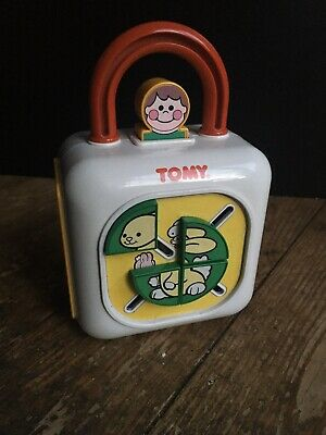 TOMY Rare Vintage 1993 Activity Play Baby Toddler Shape Number Color Busy Toy • 17.50£