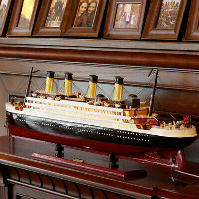 Titanic Model Wooden Sailboat Decoration Living Room Simulation Cruise Ship • 29.99£
