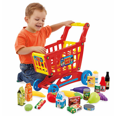 Busy Me My Shopping Trolley & Pretend Food • 16£