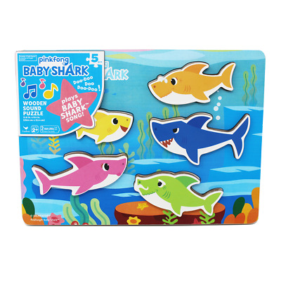 Pinkfong Baby Shark Chunky Wood Sound Puzzle • 7.50£