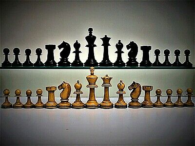 Rare Antique, Large, Loaded, (R.Whitty?) 'Staunton' (K=90 Mm/3.5 ) Chess Set+box • 71£