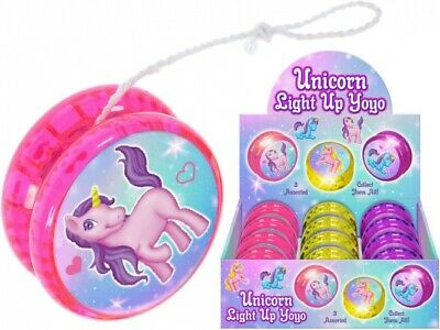 Light Up Unicorn Yoyo-Children Fun Girls Christmas Present Travel Esy Pocket Toy • 5.25£