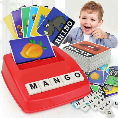 English Spelling Alphabet Letter Game Montessori Early Learning Educational Toy • 6.39£