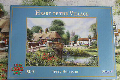 Gibsons 500 Extra Large Pieces.  Heart Of The Village. Complete • 8.50£