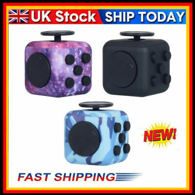 Fidget Cube Spinner Toy Children Desk Adult Stress Relief Cubes ADHD UK Camo New • 5.18£