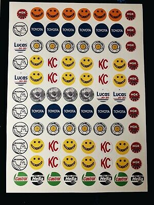 Spot Lights 1/8/10/12th Stickers RC Decal Sheet Precut Customized Vintage 80s • 8.99£