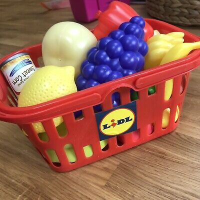Lidl Plastic Toy Food And Basket • 2.99£