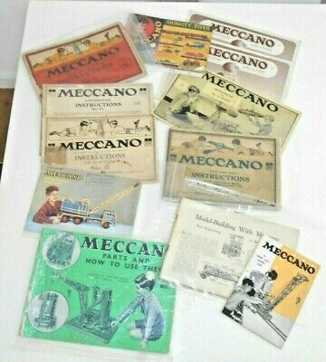 Meccano Lot Of 12 Instruction Books & Sales Brochures Various Era's  • 21.30£