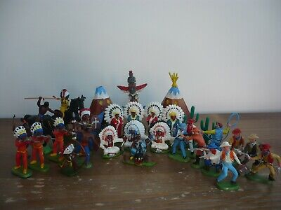 Britains Assorted Cowboys & Indians Toy Soldiers  • 35£