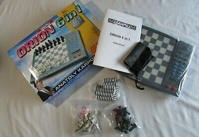 Millennium ORION 6 In 1 Electronic Chess Game  2004 Complete Open Box Never Used • 25.99£