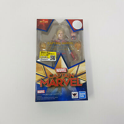 Official S H Figuarts Captain Marvel Action Figure - New Sealed • 84.99£