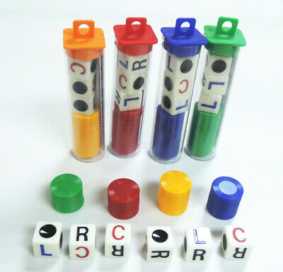 1 Set Acrylic Plastic Left Center Right Game Dice Multicolor Game Entertainment • 4.59£