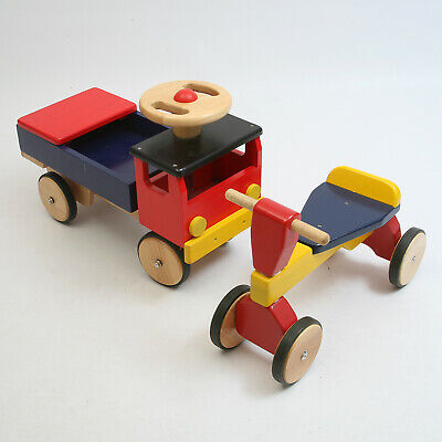 Ride-on Wooden Truck & Bike For Toddlers • 20£