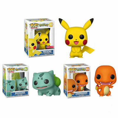 UK FUNKO POP Pokemon Pikachu Bulbasaur Action Figures Collection Kids Toy Gift • 8.99£