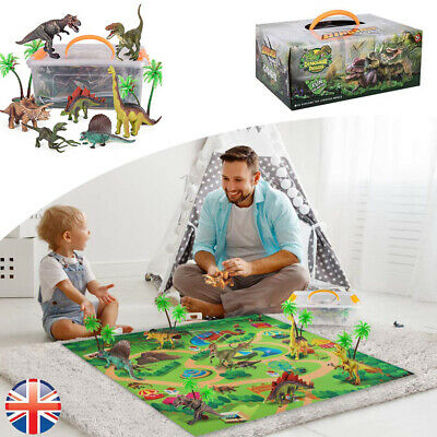 Figure Toy Play Mat Fits Dinosaur Trees Realistic Educational Dino World Playset • 15.99£