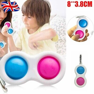 Baby Simple Dimple Sensory Fidget Toy Silicone Flipping Board Kids Adult Gift • 5.99£