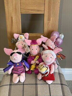 Disney Piglet Soft Toys (5 No - With Tags). • 14.50£