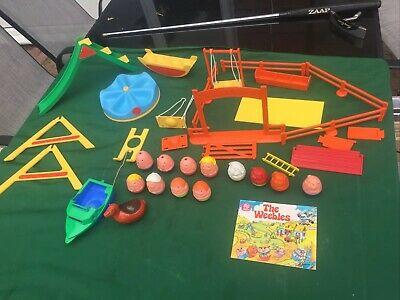 ~*VINTAGE 1970'S AIRFIX WEEBLE PLAYGROUND + 12 WEEBLES*~ With Spares • 24.99£