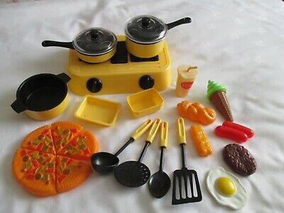 Children's Cooker Hob With Utensils And Pretend Play Food • 3.50£