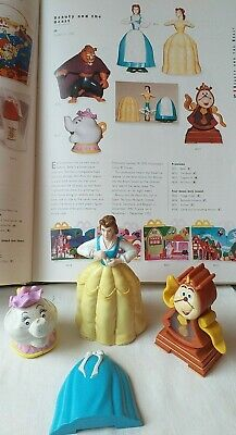 Vintage  3 McDonalds Beauty And The Beast 1992 Happy Meal Toys  • 2.99£