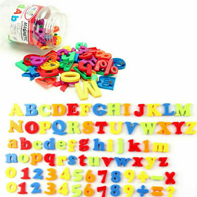 78PCS Gift Learning Toy Fridge Magnetic Numbers Alphabet Letters Magnets Xmas • 6.62£