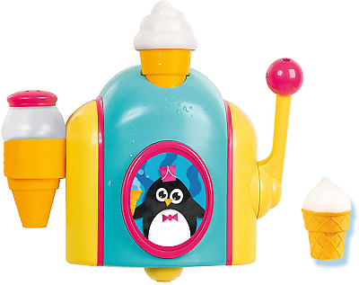 TOMY Toomies Foam Cone Factory Baby Bath Toy | Ice Cream Themed Bubble Making To • 20.38£