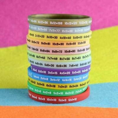 Multiplication / Times Tables Wristbands | Pack Of 12 Silicone 180x5x2MM • 6.29£