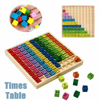 Kids Multiplication Learning Educational Wooden Times Table Board Toys. • 8.99£