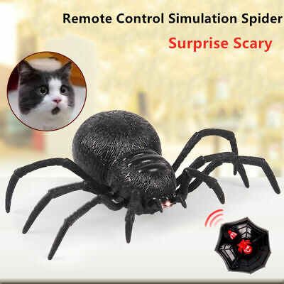 Remote Control Creepy Scary Spider RC Simulated Spider Kid Terrifying Toy Black • 10.98£