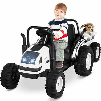 Electric Ride On Tractor With Trailer, Electric Tractor Motorized Vehicles White • 109.99£