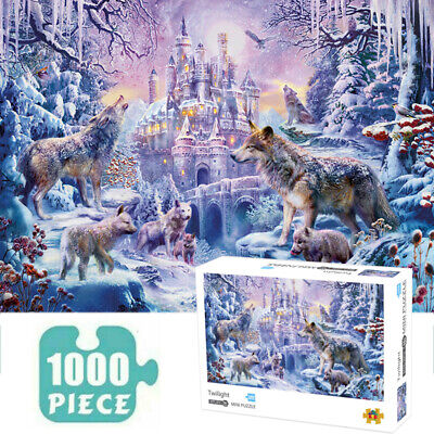Jigsaw 1000 Pieces Adult Puzzles Twilight Decompression Game Home Toy Kids Gift • 9.36£