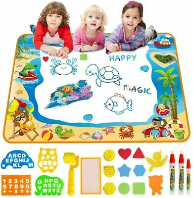 Water Doodle Mat Aqua Drawing Painting Large 100 X 70cm Multicoloured • 22.49£