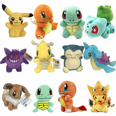 New Cute Pokemon Animal Plush Doll Soft Toys Stuffed Teddy Kids Party Gifts • 10.99£
