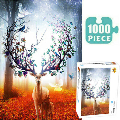 Puzzles 1000 Pieces Jigsaw Adult ELK Decompression Game Home Toy Kids Gift • 8.99£