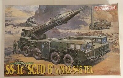 Dragon SS-1c SCUD B MAZ-543 TEL Soviet Missile Launcher 1/35 Model Kit 3520 • 55£