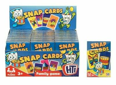 Traditional Snap Cards Kids Family Game Playing Cards Loot Bag Party Boys & Gurl • 1.99£