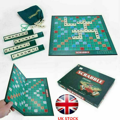Original Scrabble Board Game Family Kids Adults Educational Toys Puzzle Game UK • 13.81£
