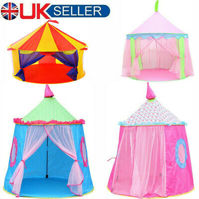 Princess Tent Children Kids Play Tent Fairy Castle Girls Boys Hexagon Playhouse • 11.99£