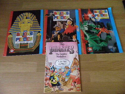 3 Issues - Bricks N Pieces Lego Magazine 1992/1993 + Pirates 36 Page Comic -1989 • 8.60£