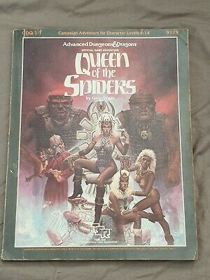 Gdq 1-7 Queen Of The Spiders + Maps Dungeons & Dragons Ad&d Tsr 9179 Supermodule • 26£