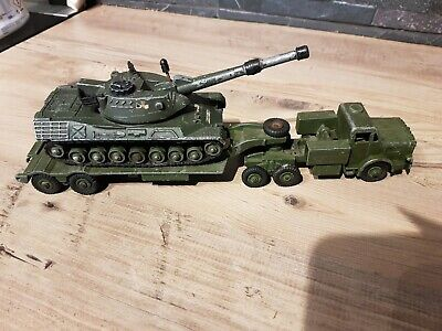 Dinky Toys 660 Mighty Antar Tank Transporter And Leopard Tank • 6.10£