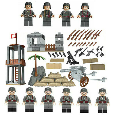 Military Base WW2 Set + 10x Army Blocks Germany UK SELLER Fit For Lego Soldiers • 12.97£