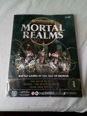 Warhammer Mortal Realms Age Of Sigmar Magazine Issue 1 And Small Gamemat  • 0.75£