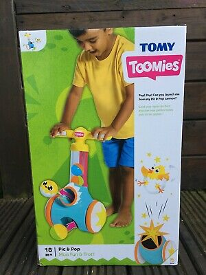 TOMY Toomies Pic & Pop Walker Toy With Ball Launcher And Collector • 14£