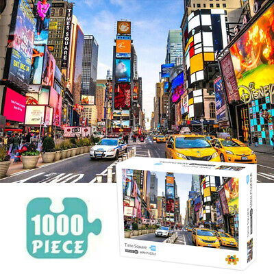 Jigsaw 1000 Pieces Adult Puzzles Times Square Decompression Game  Toy Kids Gift • 11.27£