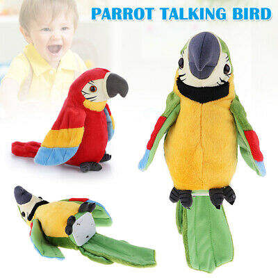 Talking Parrot Bird Toy Musical Plush Stuffed Electronic Pets Preschool Toy Gift • 9.88£